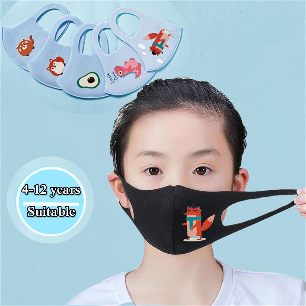 New Elastic Anti Dust Face Mask Breathable Reusable Washable Cover Children Respirator Anti-haze Cycling Mouth Mask High Quality