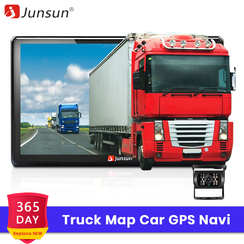 Junsun Car GPS Navigation Truck-Map Bluetooth Permanent-Free Europe D100 FM HD 7-Update title=
