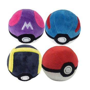 Ensemble 4 Peluches Pokémon Pokéball 12.5cm