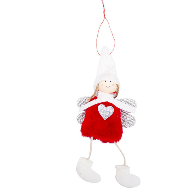 Happy New Year 2020 Latest Christmas Cute Silk Plush Angel Doll Xmas Tree Ornaments Christmas Decoration For Home Kids Gifts 27