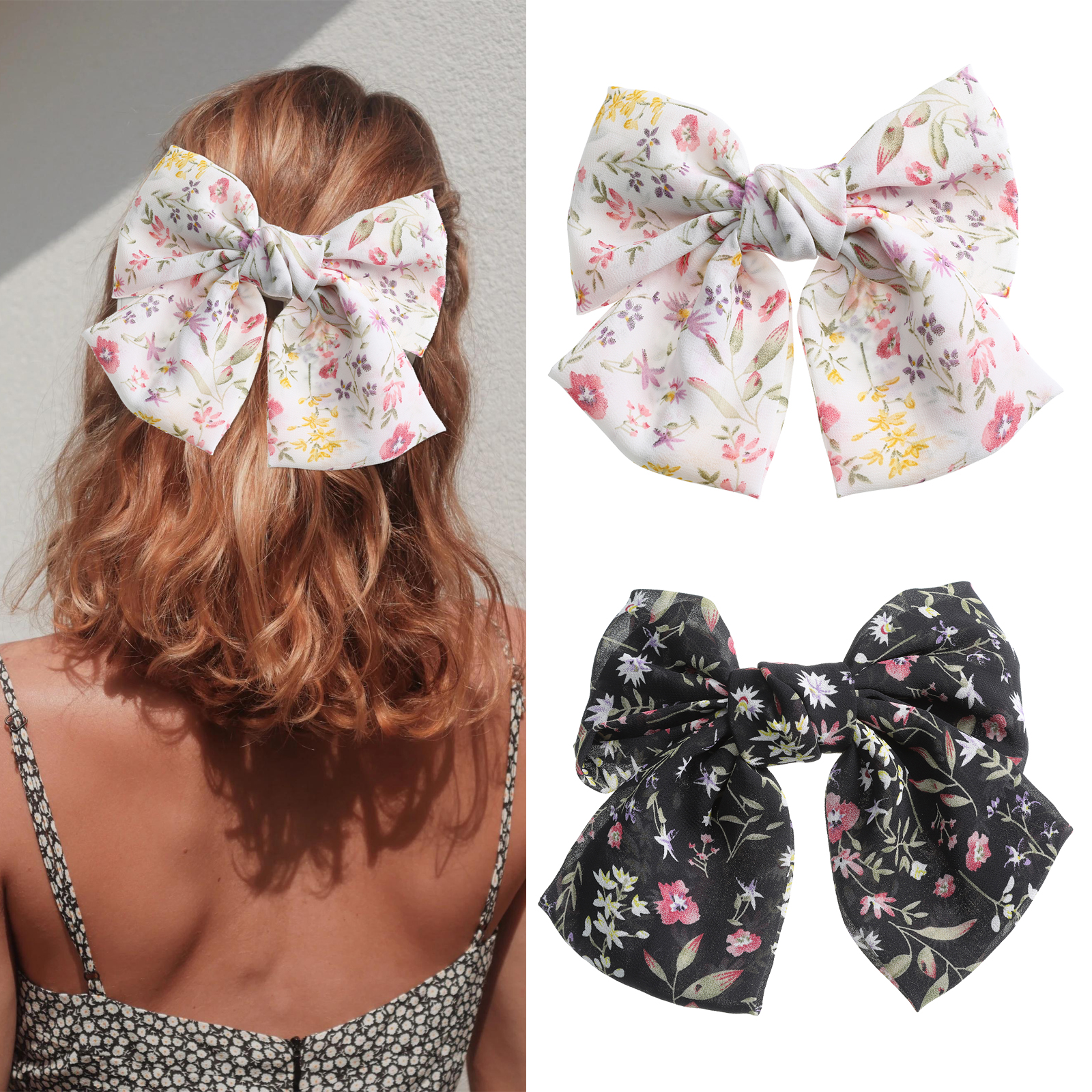 Haimeikang Big Bow Hair Clip Headwear Two Layer Butterfly Hairpin Bow Knot Ties Hair Clips Tiara Women Fashion Hair Accessories