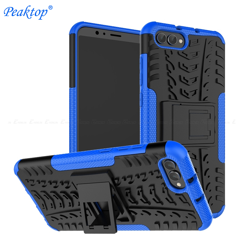 Hybrid Armor Stand Phone Case For Huawei Honor 8C 8X 7S 9N View 20 10 V20 V10 V9 8 Pro 9 Lite Hard PC Sote Silicone Back Cover