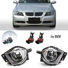 ไฟ LED หมอกสำหรับ BMW E90 E91 328i 328xi 325i 325xi 330i 330xi 2005 2008กันชนด้านหน้ากันชนหมอก LED DRL Foglights