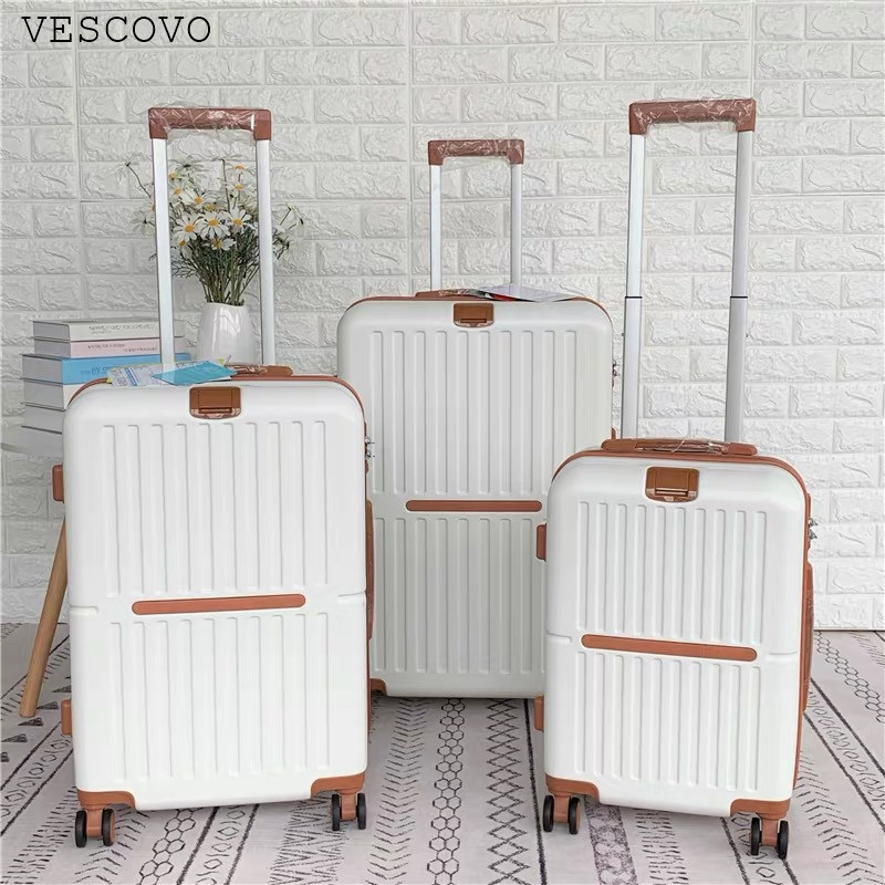 """VESCOVO 20""""24""""28inch ultra-light ltravel suitcase  ABS +PC wear-resistant rolling luggage wome trolley bag on wheel"""
