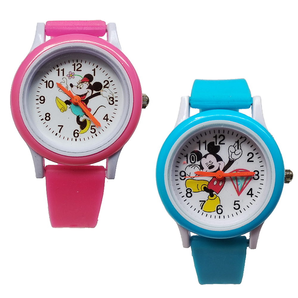 Fashion Children Watches Kid Students Clock Silicone Child Quartz Wristwatches Mickey Dress Kids Digital Watch Boys Girls Gift