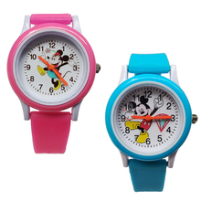 Fashion Children Watches Kid Students Clock Silicone Child Quartz Wristwatches Mickey Dress Kids Digital Watch Boys Girls Gift