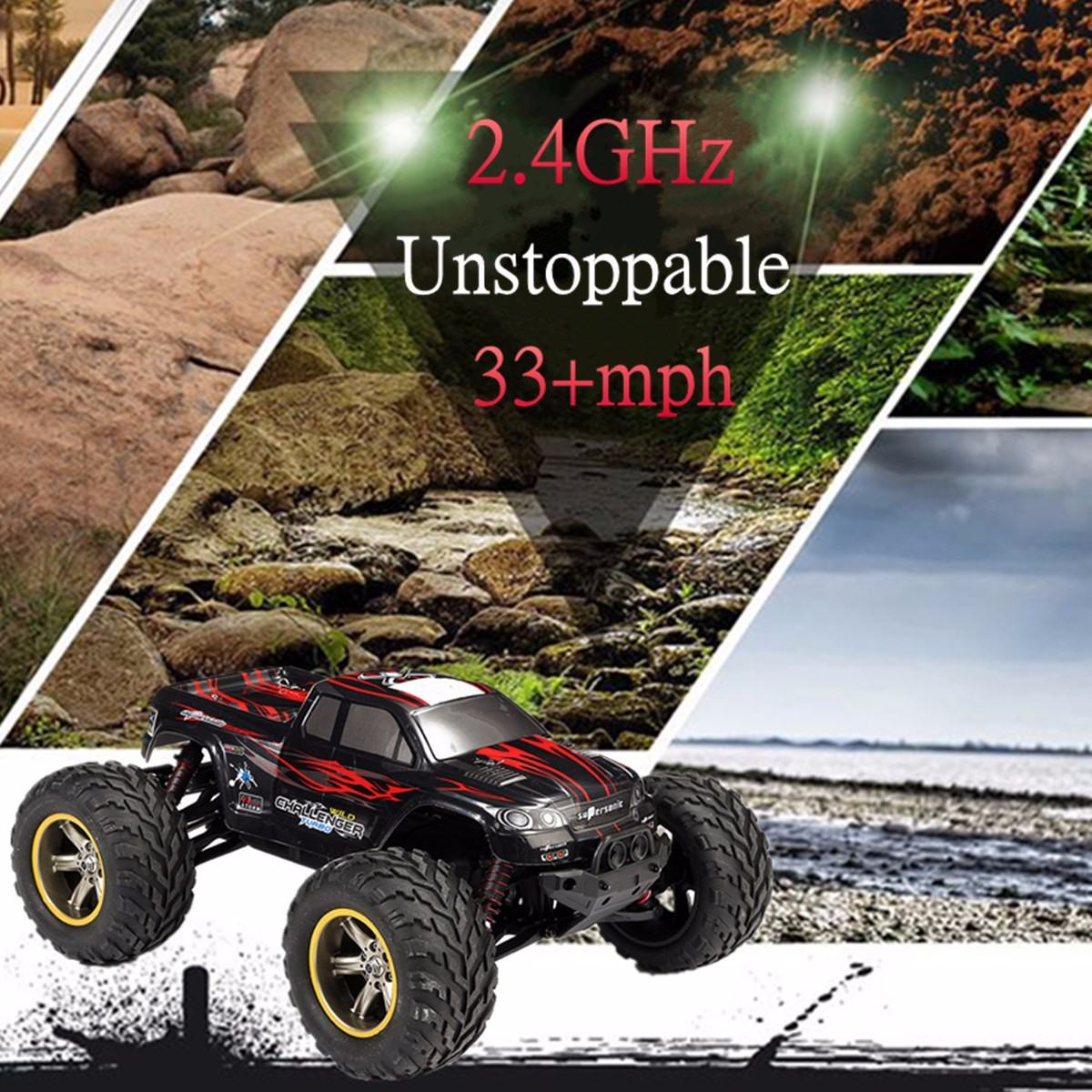 RC Car Impermeable S911 RC SUV Coche 1/12 2.4GHz 2WD 6CH Alta Velocidad Control Remoto Cimbing Car For Boys Kids Transmitter