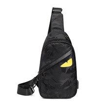 Мода принт грудь сумка мужчины USB многофункциональный сумка через плечо сумка мужской водонепроницаемый грудь сумка защита от краж плечо мессенджер сумки мужчина