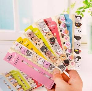 8pcs/lot Kawaii Cartoon Memo Pad Creative Cute Animal Memo pad Index Posted Planner School Office Stationery Bookmark