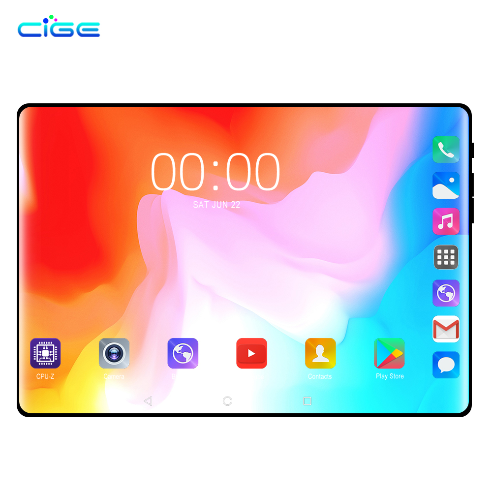 10.1 Inch Tablet PC Android 8.0 Phone Call 4G Lte 6GB RAM 64GB ROM Octa Core Tablets Dual SIM Phablet WIFI  Google Play Store 10