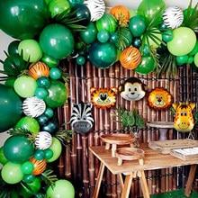 Kit de arco de globos de animales, suministros para fiestas temáticas de jungla, Safari, fiesta de cumpleaños para niños, globos para decoraciones de Baby Shower, 106 Uds.