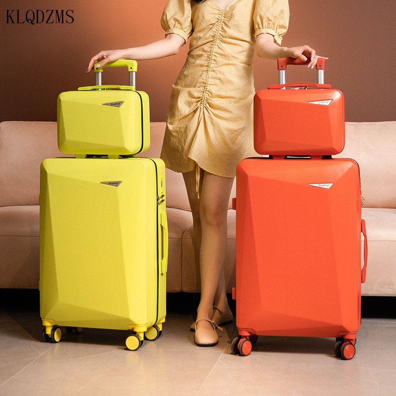 KLQDZMS Trolley Luggage Bag Set 20''22''24''26 Inch Women's Fashion Spinner Rolling Luggage Student Lightweight Rolling Suitcase