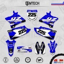 DSMTECH графика команды на заказ Фоны наклейки 3m наклейки на заказ для YZ125-250 двухтактный 2015-2019 013