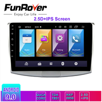 Funrover 2 din 2.5D +IPS Android 9.0 Car dvd player for Volkswagen Passat B6 B7 CC Magotan 2011 2015 radio GPS navigation RDS BT