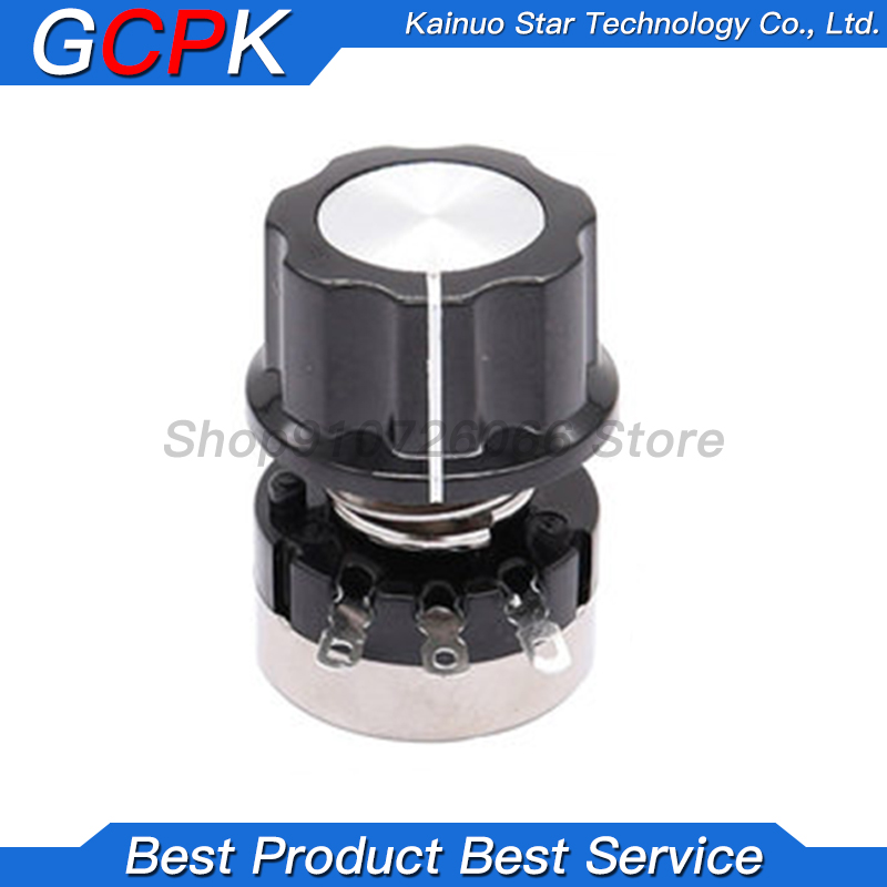 3PCS = ( RV24YN20S /A03 knob /Dials each 1PCS ) 1K 2K 5K 10K 20K 50K 100K 200K 500K 1M ohm Turn Film Rotary Potentiometer