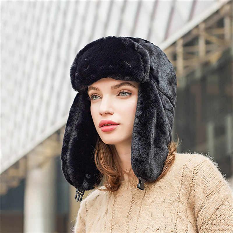 بيني الشتاء قبعة للجنسين الشتاء القبعات رشاقته قبعة الصيد قبعة للرجال والنساء الأذن Earmuff مقنعين الرقبة قبعة تدفئة قبعة صغيرة O22