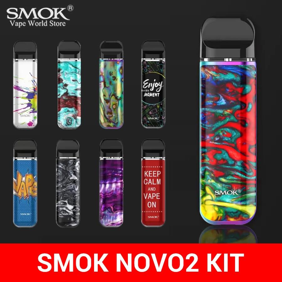 SMOK Vape NOVO2 Kit Cigarette Electronique boîte Mod NOVO 2 dosette Cigarette électronique 800mah batterie Sigaretta Elettronica VS Nord