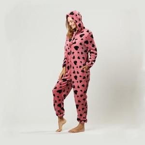 Image 4 - Mùa đông Nữ Pyjama Bộ Ấm Dép Nỉ Có Mũ Trùm Đầu Có Túi Onesie Lông Tơ Đồ Ngủ Nữ 1 Nhảy Phù Hợp Với Bộ Pyjama Homewear