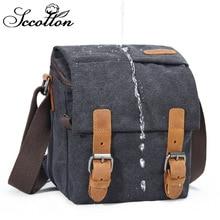 CamDress Canvas Camera Shoulder Bags SLR Sling Bag Mens Waterproof Functional Messenger Male camera bag