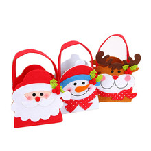20*13cm Decorative Christmas Bags Holiday Fun Xmas Jewelry Pouches Santa Claus Elk Snowman Holders