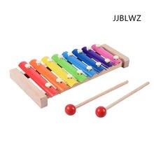 Новые деревянные детские игрушки Перкуссия 8 ксилофон раннего