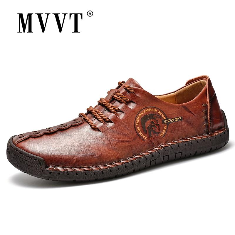 Plus Size Fashion Men Shoes Split Leather Men Shoes Casual Comfortable Men Loafers Flats Shoes Breathable Shoes Men