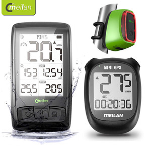 Meilan M3 M4 Bike Computer Wireless Cycling Speed & Cadence Sensor Bike Speedometer Odometer Bicycle Computer with Taillight LED