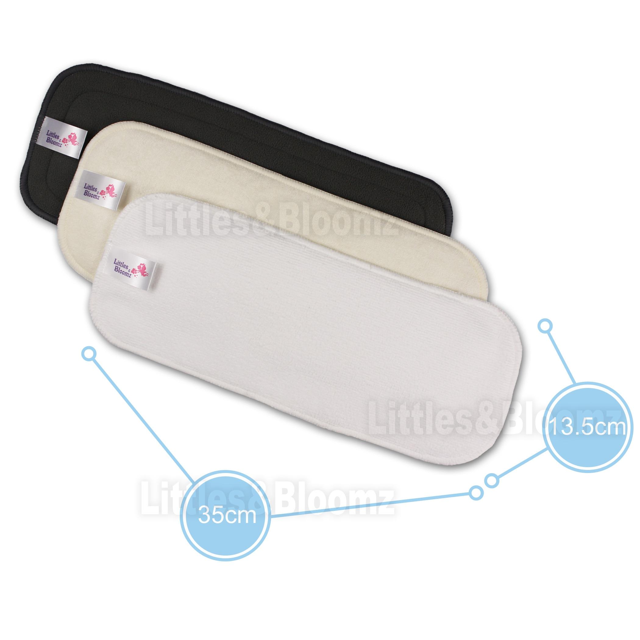 [Littles&Bloomz] Многоразовые моющиеся вкладыши-вкладыши для реального Кармана Ткань подгузник из микрофибры бамбуковый угольный вкладыш