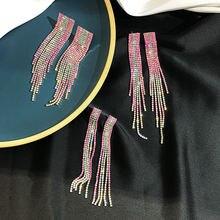 2020 Новые Модные Цветные Кристальные Висячие серьги для женщин