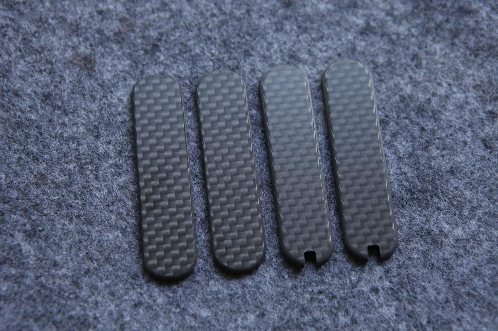 Custom Made  3K Full Carbon Fiber Sable Knife Handle Scale 58mm For  Victorinox  Swiss Army  Knife Replacement  Scales