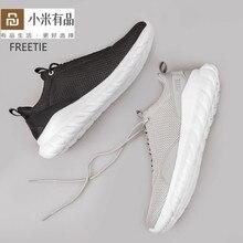 원래 FREETIE 39 44 샤오미 크기 남자 스포츠 신발 가벼운 통기성 뜨개질 도시 운동화 xiaomi mijia 야외 운동화
