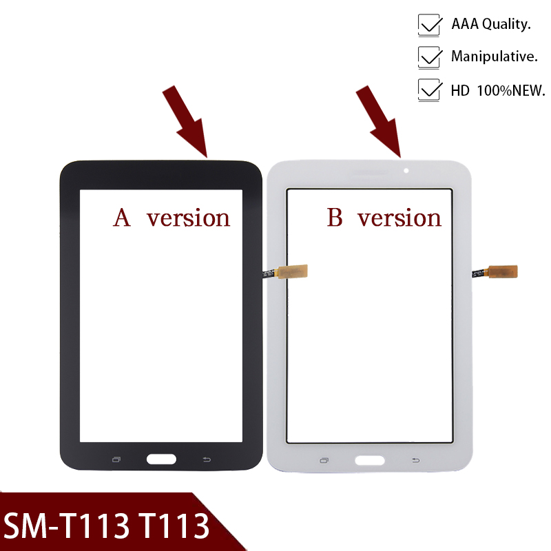 100% Original New T113 Touch Screen Panel For Samsung Galaxy Tab 3 Lite 7.0 SM-T113 LCD Display Touchscreen Glass Replacement