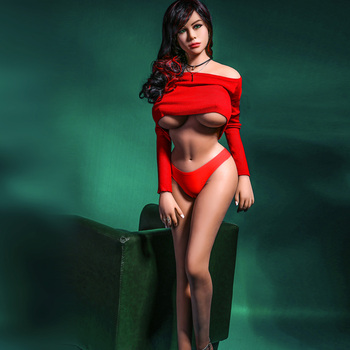 165cm Full Size Silicone Sex Dolls, Big Breast Tight Vagina Sex Toys for Men,Real Adult Toys Tpe Dolls, Skeleton Love Doll