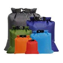 6 sztuk na zewnątrz wodoodporna torba worek suchy worek torba sportowa do Drifting żeglarstwo pływające spływy kajakowe plaża Camping Surfing torby do pływania