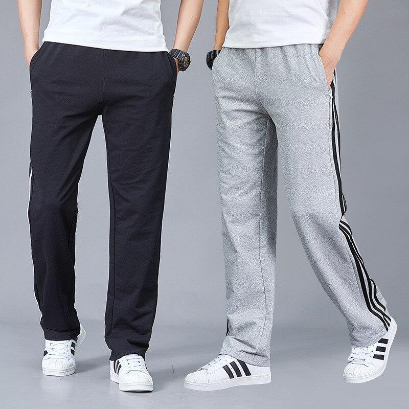Autumn Cuffless Pants Pants Men Casual Trousers Running Straight Winter Sports Large Size Loose-Fit Pants Plus Velvet 2019 Conve