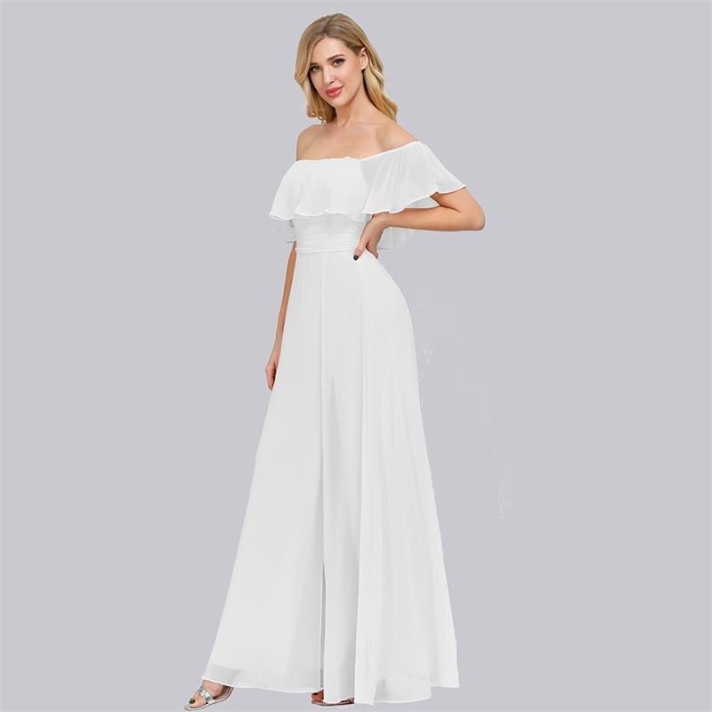 Купить с кэшбэком Plus Size Boat Neck Pink A Line Bridesmaid Dresses Vestidos De Madrinha XUCTHHC Formal Dress For Wedding Party 2020