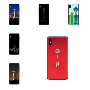 Seattle Space Needle For Galaxy A5 A6 A7 A8 A10 A10S A20 A20S A20E A21S A30 A30S A40 A50 A70 A71 A70E TPU Capa Cover image