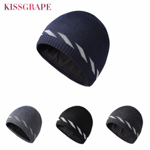 Reflective Winter Knitted Hat Men Skullies Beanies For Bonnet Fashion Mask Warm Beanie Male Outdoor Nigth Cap