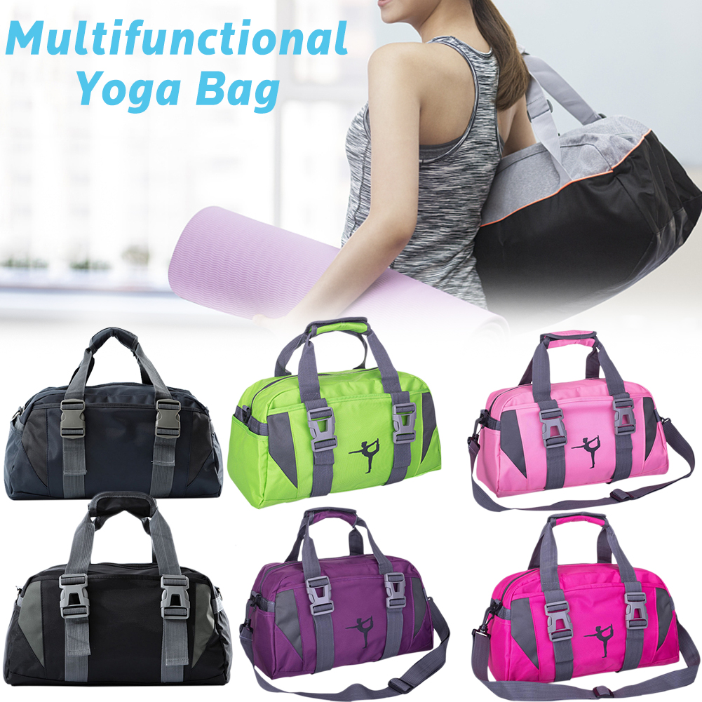 Fashion Waterproof Yoga Bag NylonOxford Cloth Fitness Bag For Women And Men Large Capacity Travel Gym Bag Shoulder Crossbody