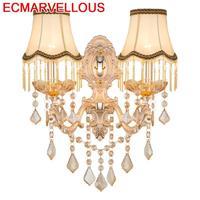 Badkamer Verlichting Coiffeuse Avec Miroir Wandlampen Crystal For Home Applique Murale Luminaire Bedroom Light Wall Lamp
