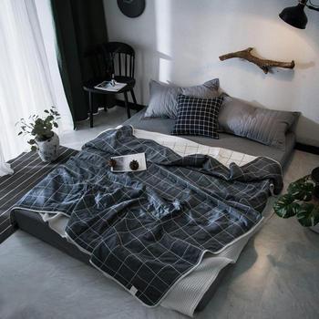 Simple summer skin-friendly blanket for bed 100 cotton fabric soft and comfortable Quilted for babies children and adults tanie i dobre opinie qiong yu Tkanina z mikrofibry Drukowane 400tc Zwykły Tkane Podróży Dekoracyjne Pościel