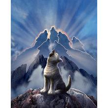 Diy картина по номерам Волк король рев комплект маслом Животные