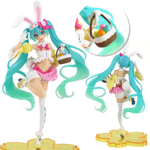 22cm Anime figure Hatsune Miku rabbit ear Spring Image ver Cute Kawaii Statue Miku PVC Action Figure Collection Model Toy Doll(China)