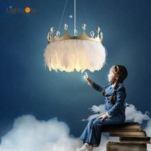 Simple modern warm crown pendant lights children