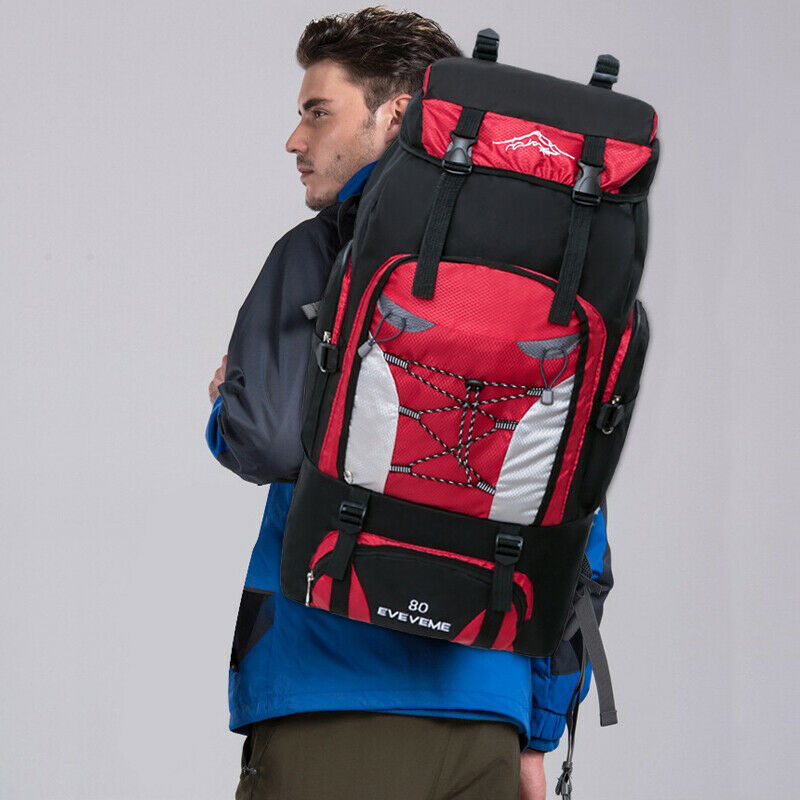 80L Capacity Waterproof Travel Backpack Hiking Camping Rucksack Trekking Luggage Bag Sport Travel
