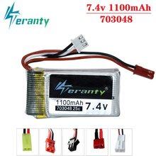 7.4V 1000mah 703048 bateria Lipo dla MJXRC X600 7.4V 1100mah 25c 703048 bateria Lipo dla zabawki zdalnie sterowane baterii
