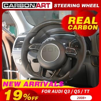 Steering wheel carbon fiber for audi Q3 Q5 Q7  car styling sport steering wheel for Audi TT