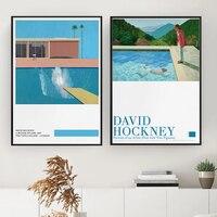 David Hockney kunst Ausstellung Poster EINE Größere Splash Kunstdruck Moderne Minimalistischen David Hockney Druck Hockney Office Home Wand Kunst