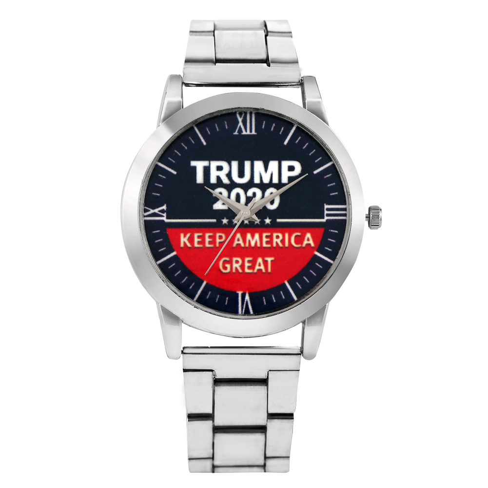 Trump 2020 Wristwatch Men's Watch Silvery Quartz Male Wrist Watches New Arrivals Clock Timepieces Gift Reloj Para Hombre