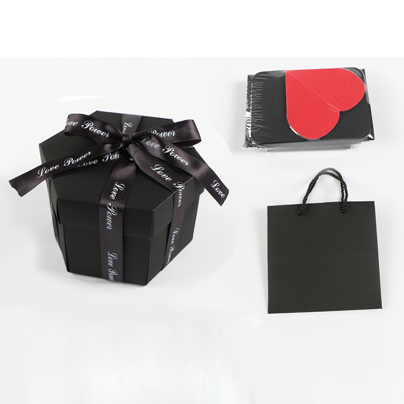 Explosion de boîte d'explosion d'amour de fête Surprise pour anniversaire Scrapbook bricolage Album Photo anniversaire cadeau de noël